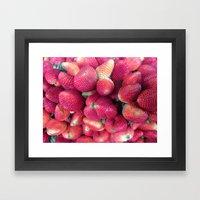 Strawberries in Paloquemao - Fresas en Paloquemao Framed Art Print