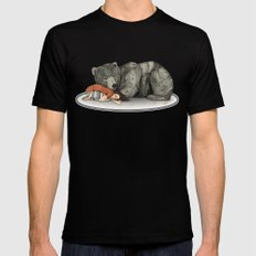 Huntress Black SMALL Mens Fitted Tee