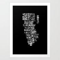 Alphabet Cities 002 - Ne… Art Print