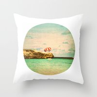 day at the reef Throw Pillow