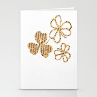 PAPERCUT FLOWER 4 Stationery Cards