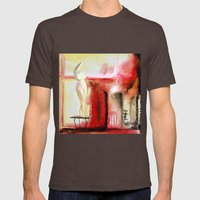 Garden Mens Fitted Tee Brown SMALL
