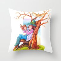The beginning of an adventure Throw Pillow