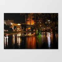 Night Time On The Torren… Canvas Print