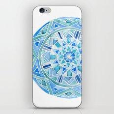 Blue Mandala 1 iPhone & iPod Skin