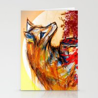 Fox in Sunset II Stationery Cards