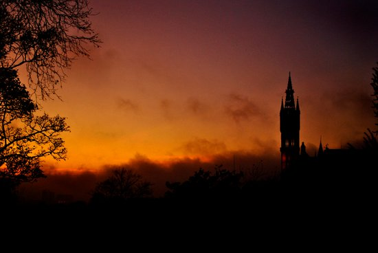 Glasgow University Canvas Print