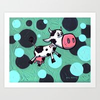 Cow Gill! The cow with gills! Art Print