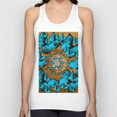 BUTTERFLY WREATH Unisex Tank Top