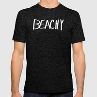 Beachy Mens Fitted Tee Tri-Black SMALL