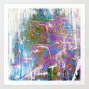 Sky Dive - colorful abstract painting. Art Print