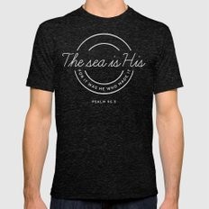 Psalm 95:5 Mens Fitted Tee Tri-Black SMALL