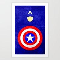 Captain America: Avenger… Art Print