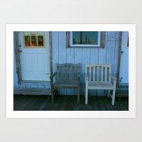 Dock Chairs Art Print