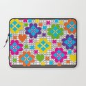 Floral Squares Laptop Sleeve