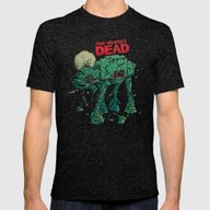 Walker's Dead Mens Fitted Tee Tri-Black SMALL