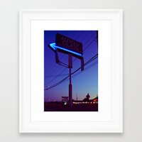 Framed Art Print featuring Night arrow by Vorona Photography