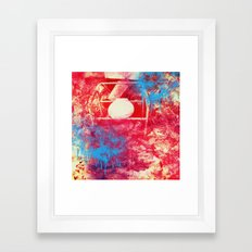 The Ass Missle Heat Map Framed Art Print