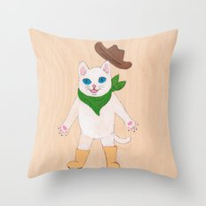 Woah! Kitty Throw Pillow