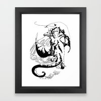 A Dragon from your Subconscious Mind #12 Framed Art Print