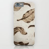 Aquatint Leaves iPhone 6 Slim Case