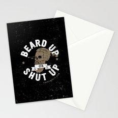 BEARD UP. OR SHUT UP. Stationery Cards