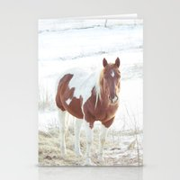 Snow + Horse Stationery Cards