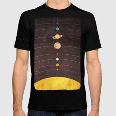 Solar System Black Mens Fitted Tee SMALL