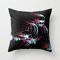 Rolling in the deep skateboard Throw Pillow