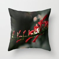 Red Bells Throw Pillow