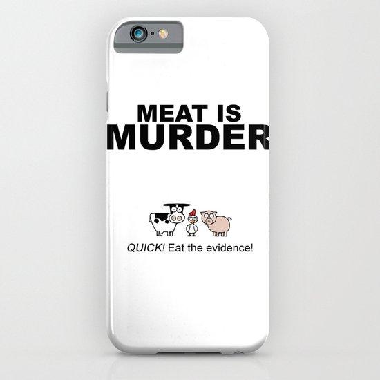 MEAT IS (tasty) MURDER iPhone & iPod Case