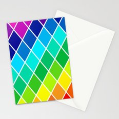 Tetrahedral Rainbow Stationery Cards
