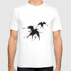 On your fears,  ... swallow them.   White Mens Fitted Tee SMALL