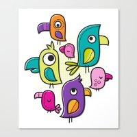 Le Tweet Canvas Print