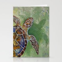 Caribbean Sea Turtle Stationery Cards