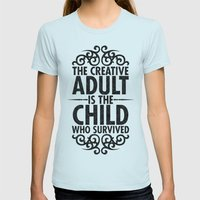 Creative Womens Fitted Tee Light Blue SMALL