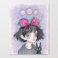 Kiki and Jiji Canvas Print