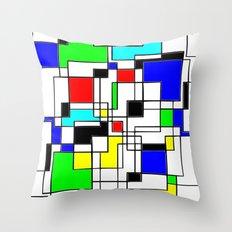 Homage to Piet Mondrian  Throw Pillow