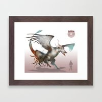Pokemon-Reshiram Framed Art Print