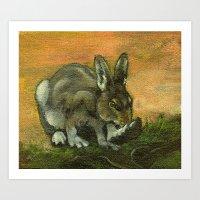 BunnyFoot Art Print