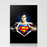 superman Stationery Cards featuring Superman by DavinciArt