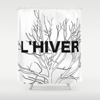 L'HIVER Shower Curtain