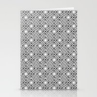 Black And White Broken D… Stationery Cards