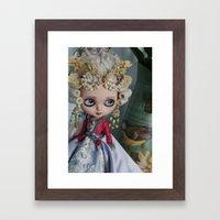 BAROQUE MARIE ANTOINETTE BLYTHE ART DOLL PINK Framed Art Print
