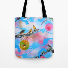 Society Finches Tote Bag