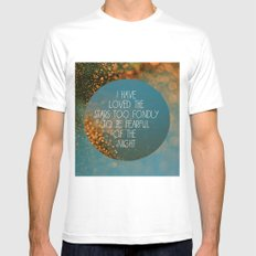Stars White Mens Fitted Tee SMALL