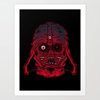 Monster Vader Art Print