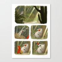 Little Tale / Petit Conte Canvas Print