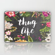 Laptop & iPad Skin featuring Thug Life by Text Guy