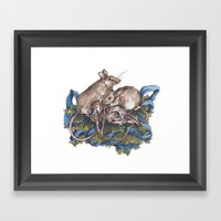 Mice and skulls Framed Art Print